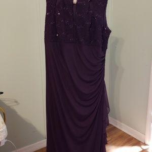 Prom or evening dress dark plum